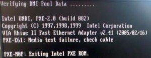 PXE-E61:Media test Failure