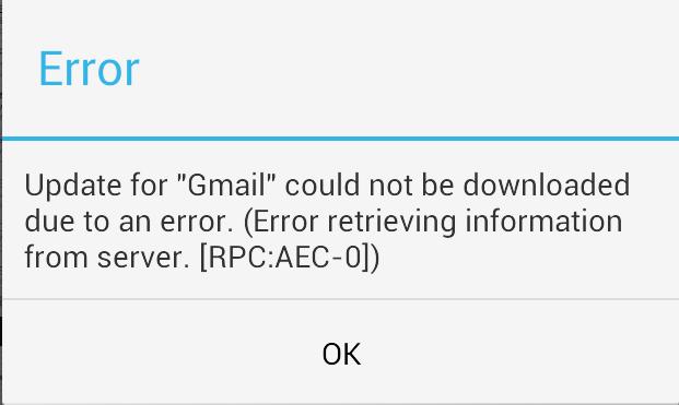 Android ошибка ошибка RPC:AEC:0