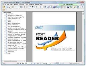 Открыть PDF через foxit pdf reader