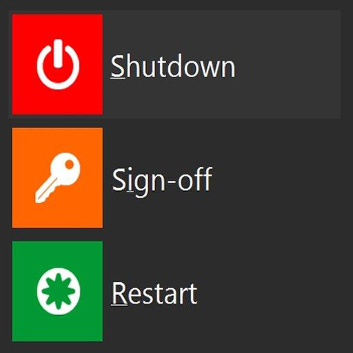 кнопка выключения Windows 8