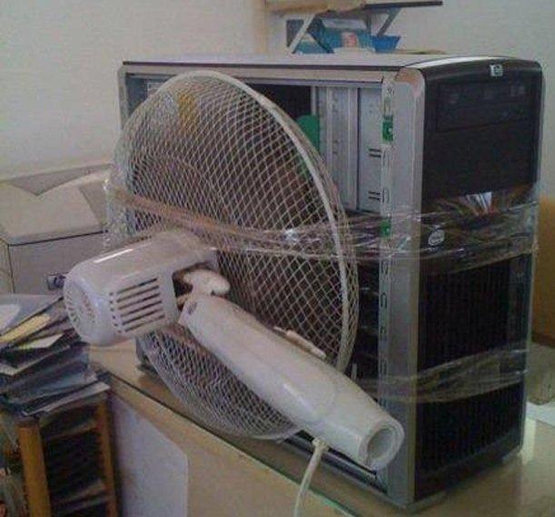 перегревается компьютер