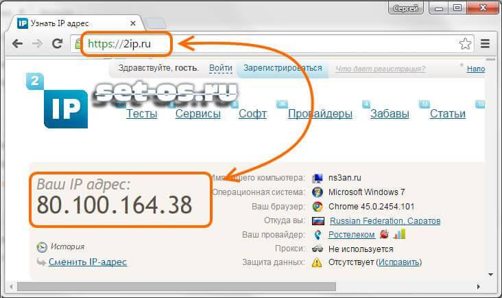 2ip.ru узнать свой ip-адрес и порт