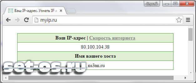 узнать свой ip-адрес www.myip.ru