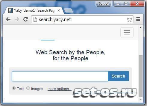 yacy поисковик на русском