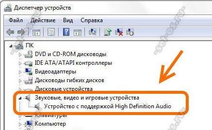устройство с поддержкой High Definition Audio