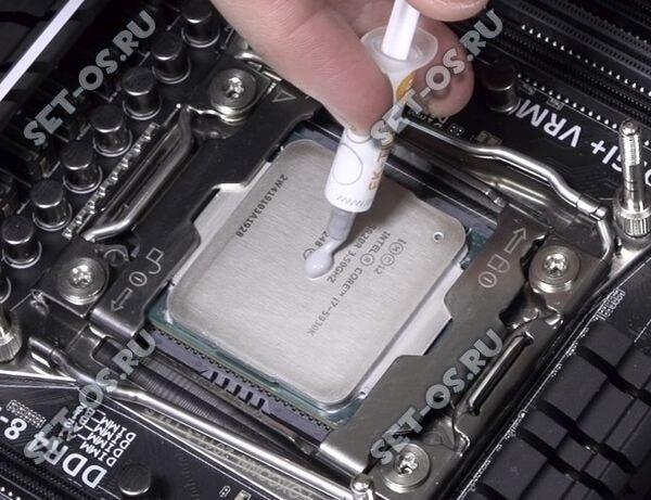 как наносить термопасту на процессор