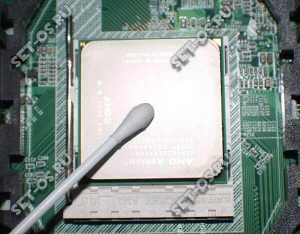 как правильно очистить процессор от термопасты