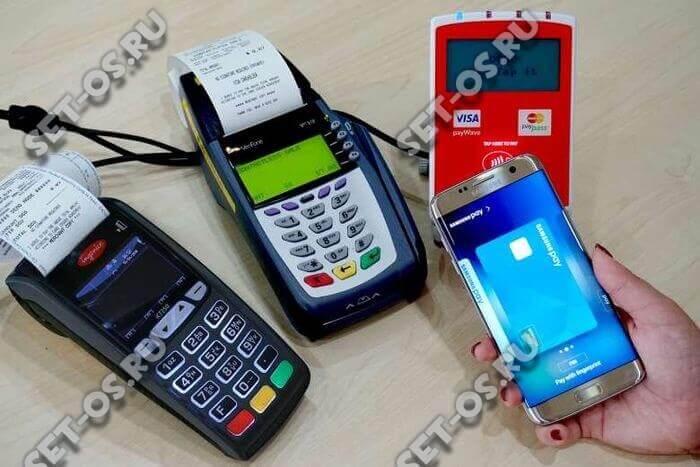 Процедура осуществления оплаты с помощью Самсунг Пей