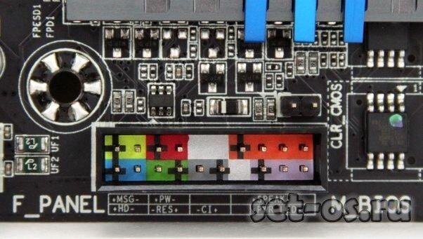 подключение передней панели системного блока