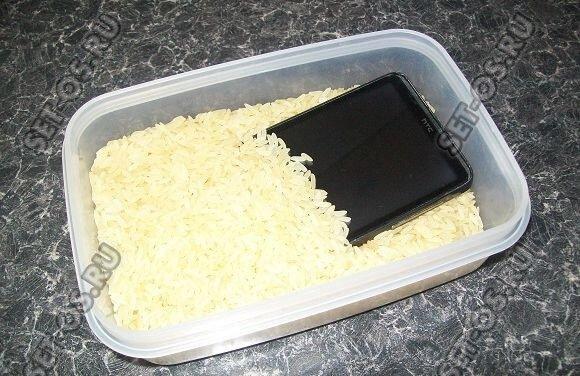 как высушить планшет от воды