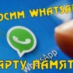 Как перенести Whatsapp на карту памяти