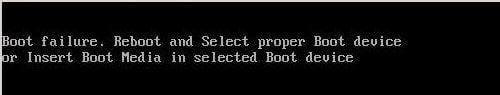 ошибка Boot failure