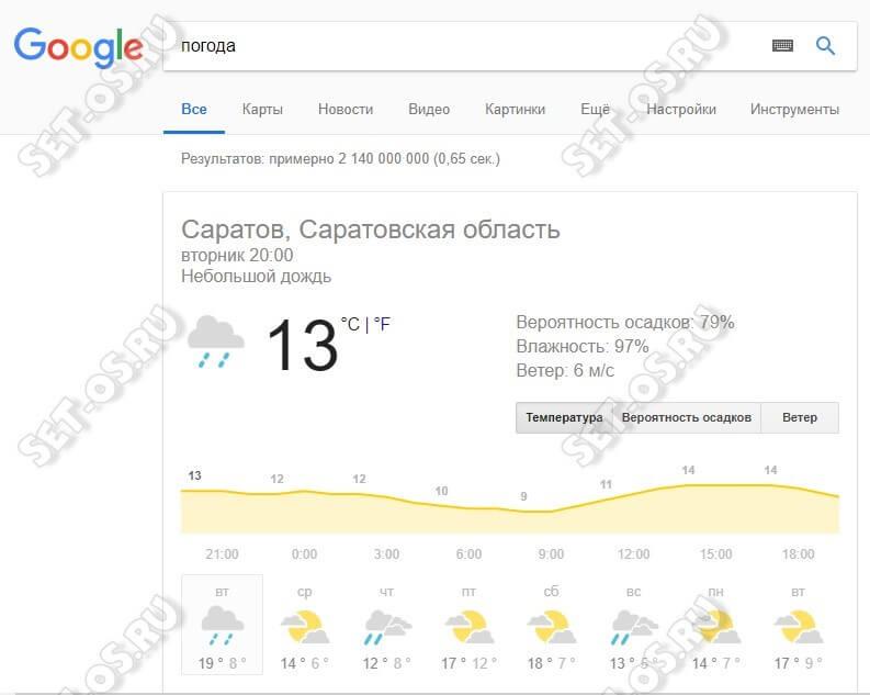 google погода гугл прогноз на каждый день