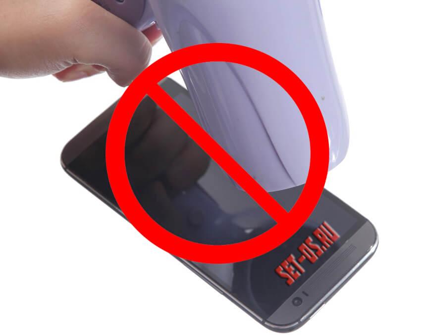 можно сушить телефон феном
